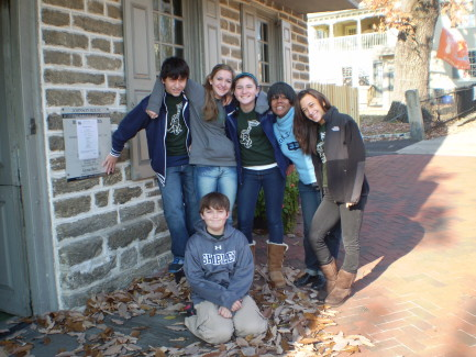 Volunteering at the Johnson House - Shipley High School Students